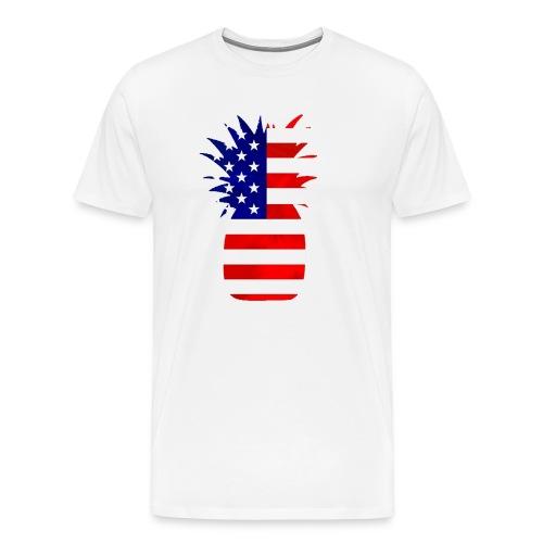 Pineapple United States Flag - Men's Premium T-Shirt
