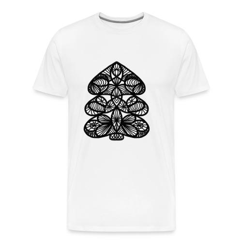 Simple Victorian Lace Design Christmas Tree - Men's Premium T-Shirt