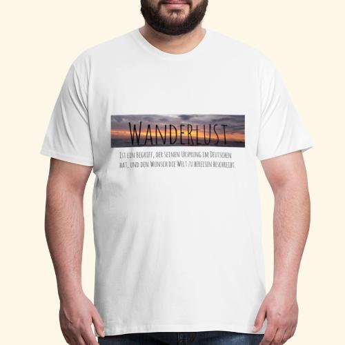 Wanderlust (german) - Men's Premium T-Shirt