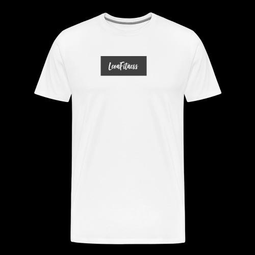 LeonFitness Box Logo - Men's Premium T-Shirt