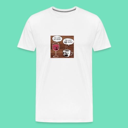 coffee v wine - Men's Premium T-Shirt