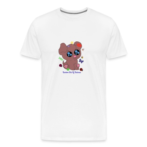 Rose Brown puppy shirt - Men's Premium T-Shirt