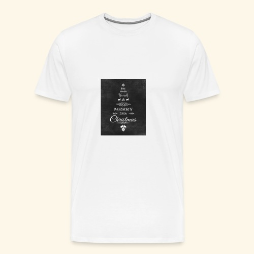 36de4af5f6fc233fcbe6ac1f16d23071 christmas chalkb - Men's Premium T-Shirt