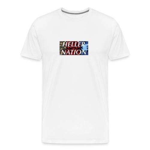 Triple camo Heller nation logo - Men's Premium T-Shirt