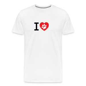 I LOVE DOG - Men's Premium T-Shirt