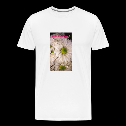 """Just Breathe "" in French - Men's Premium T-Shirt"