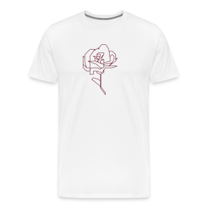 Abstract Rose - Men's Premium T-Shirt