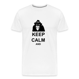 KEEP CALM MONKEY CUSTOM TEXT - Men's Premium T-Shirt