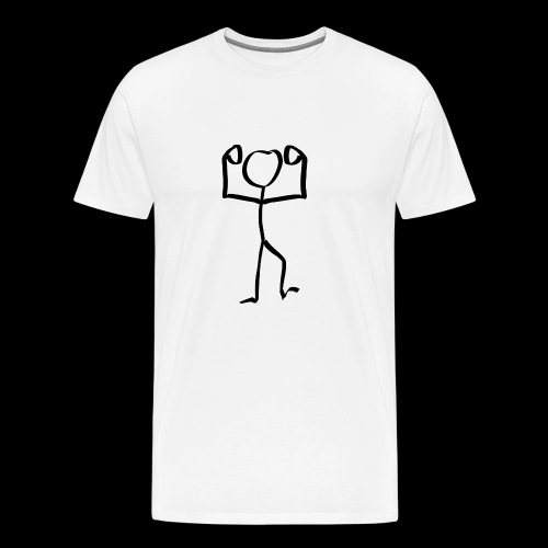 Muscle Stickman - Men's Premium T-Shirt