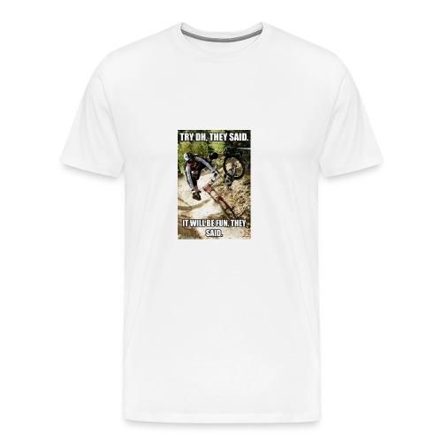 Bike meme on your shirt - Men's Premium T-Shirt