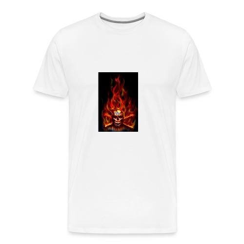 red fire skull - Men's Premium T-Shirt