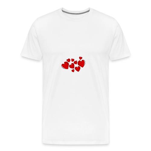 Hearts - Men's Premium T-Shirt