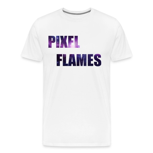 PIXEL FLAMES (Galaxy Edition) - Men's Premium T-Shirt