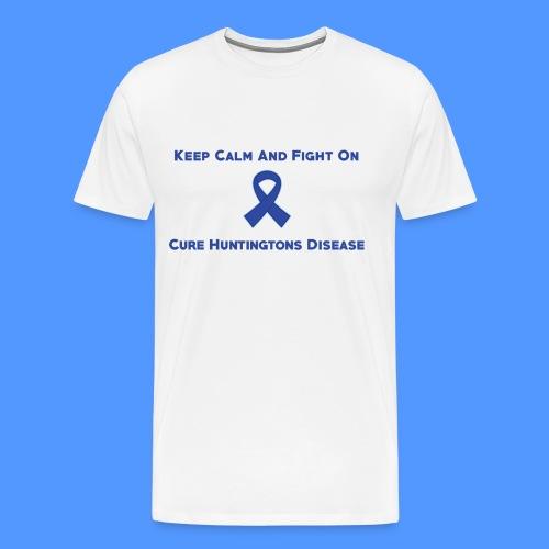 Huntington Disease Ribbon Keep Calm And Fight On - Men's Premium T-Shirt
