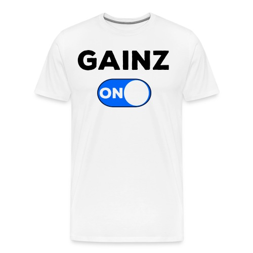 gainz blue - Men's Premium T-Shirt