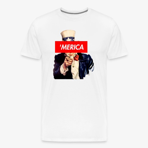 Uncle Sam Box Logo - Men's Premium T-Shirt