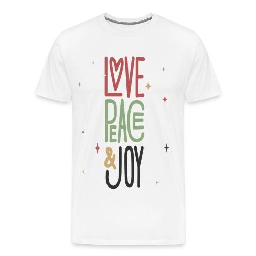 LOVE PEACE &JOY - Men's Premium T-Shirt