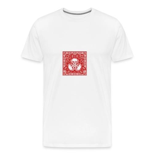 lucky skull bandanna design - Men's Premium T-Shirt