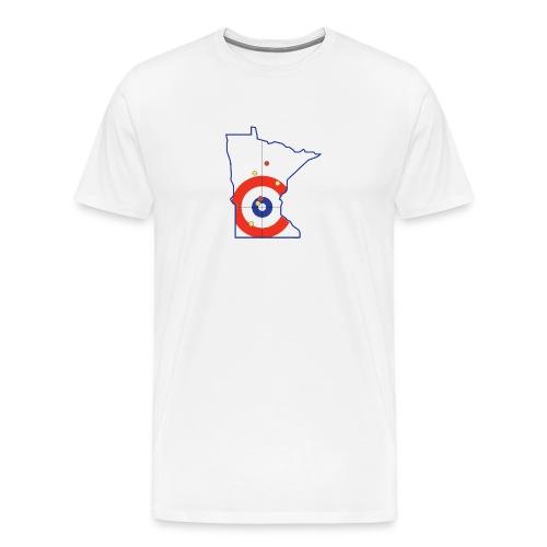 Minnesota Curling Rings - Men's Premium T-Shirt