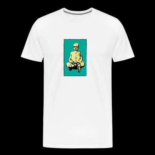 man sitting - Men's Premium T-Shirt
