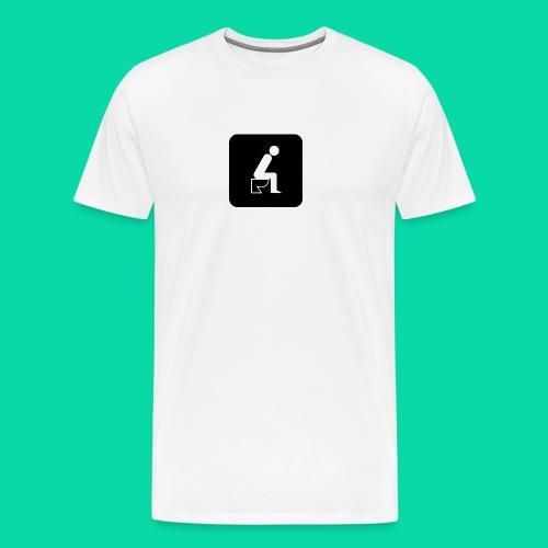 On The Toilet - Men's Premium T-Shirt