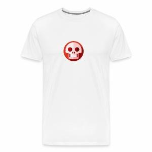 Red & White SKULL - Men's Premium T-Shirt