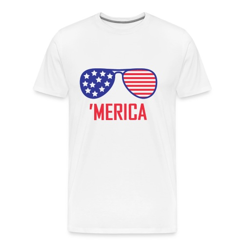 4th of July Shirt merica glasses - Men's Premium T-Shirt
