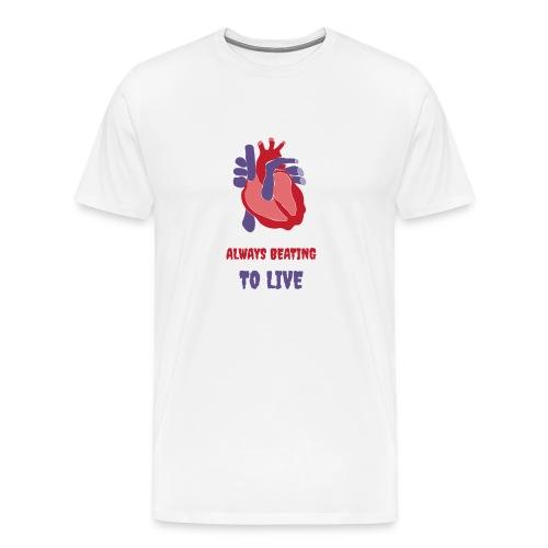 Heart - Beating - Men's Premium T-Shirt