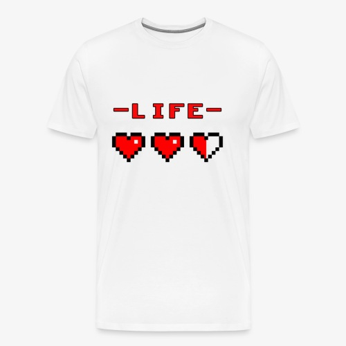 life bar retro games - Men's Premium T-Shirt