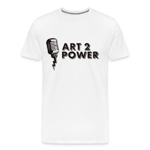 ART 2 POWER - black logo - Men's Premium T-Shirt