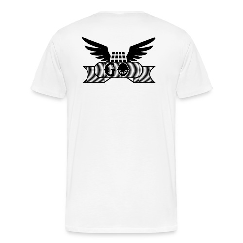 Wings with panel black - Men's Premium T-Shirt