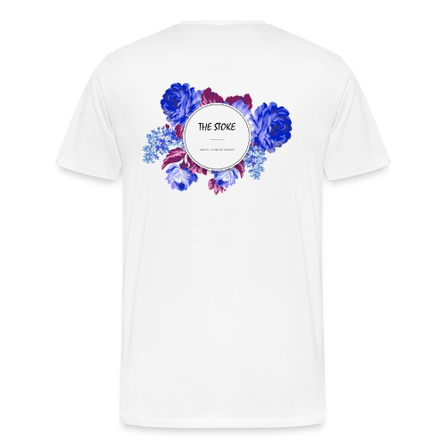 The Stoke Badge Floral - Men's Premium T-Shirt