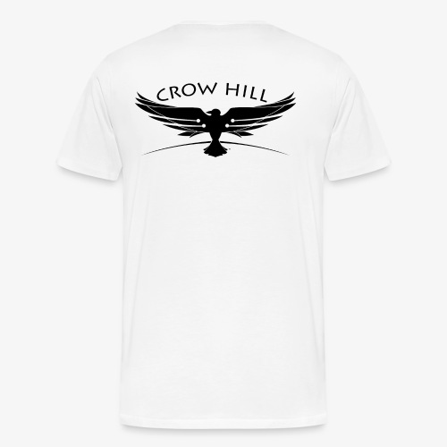 Crow Hill Band Black Logo on Back - Men's Premium T-Shirt