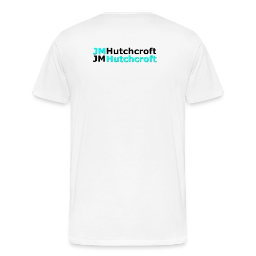 Back Printed JM Hutchcroft - Men's Premium T-Shirt