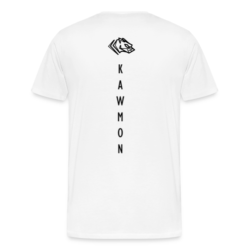 Kawmon Athleisure Gym Apparel Back Logo - Men's Premium T-Shirt