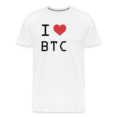 I HEART BTC (Bitcoin) - Men's Premium T-Shirt