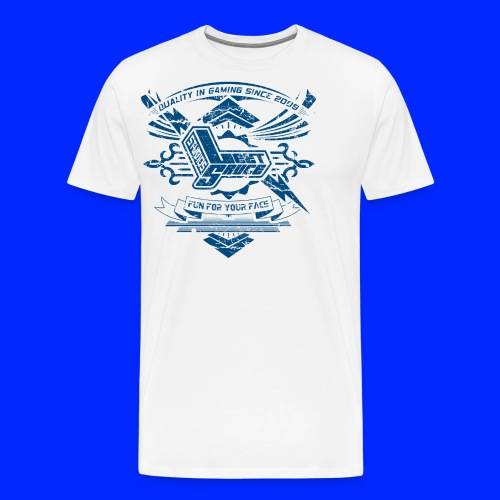 Vintage Leet Sauce Studios Crest Blue - Men's Premium T-Shirt