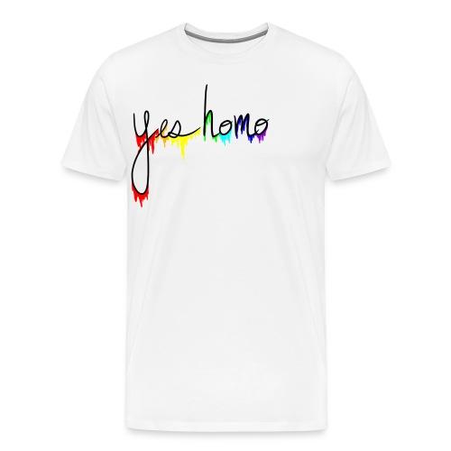 Yes Homo Rainbow Drip - Men's Premium T-Shirt