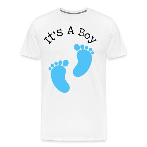 It's a boy, baby born design - Men's Premium T-Shirt