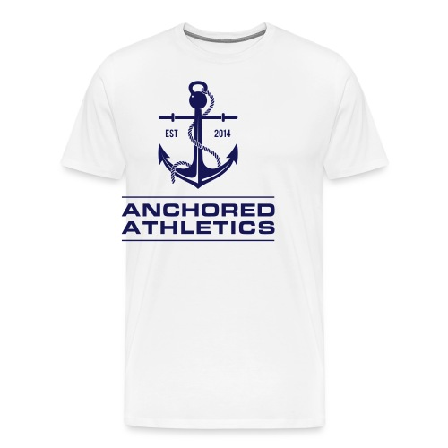 Anchored Athletics Blue Vertical - Men's Premium T-Shirt