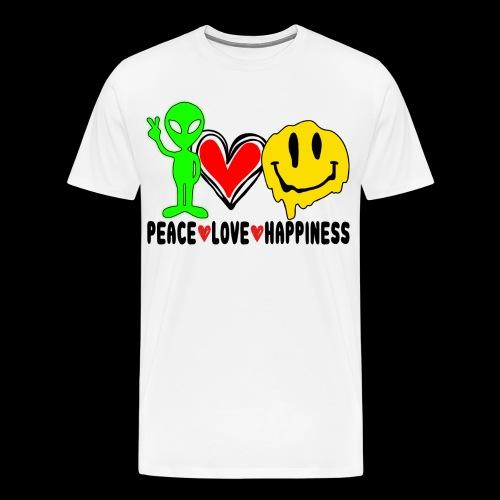 Peace Love Happpiness - Men's Premium T-Shirt