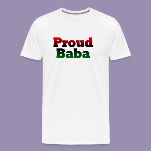 Proud Baba-RBG - Men's Premium T-Shirt