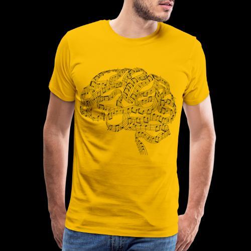 Sound of Mind   Audiophile's Brain - Men's Premium T-Shirt