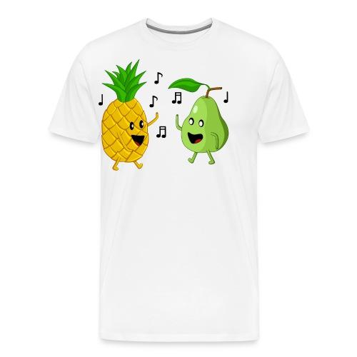 Dancing Pineapple and Pear - Men's Premium T-Shirt