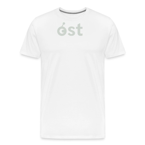 ost logo in grey - Men's Premium T-Shirt
