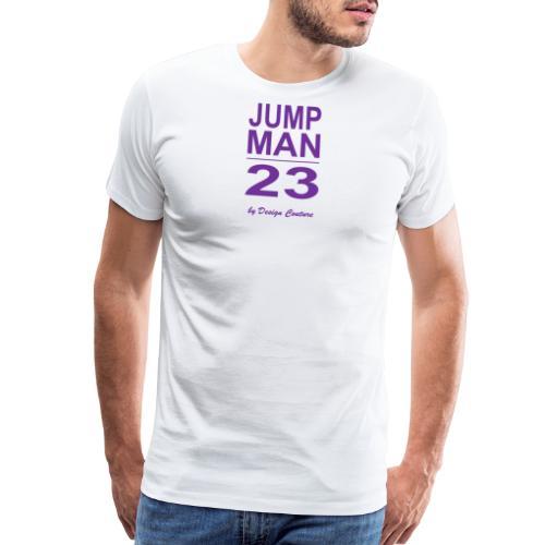 JUMP MAN 23 PURPLE - Men's Premium T-Shirt