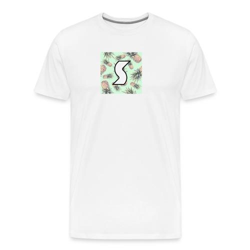 Scorch Pineapple Logo Design - Men's Premium T-Shirt