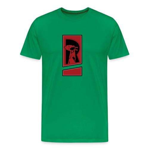Review Spot Red/Black - Men's Premium T-Shirt