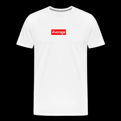 Average Supreme Logo Mockup - Men's Premium T-Shirt