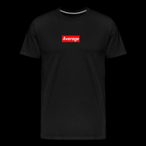 Average Supreme Logo Mockup - Men's Premium T-Shirt